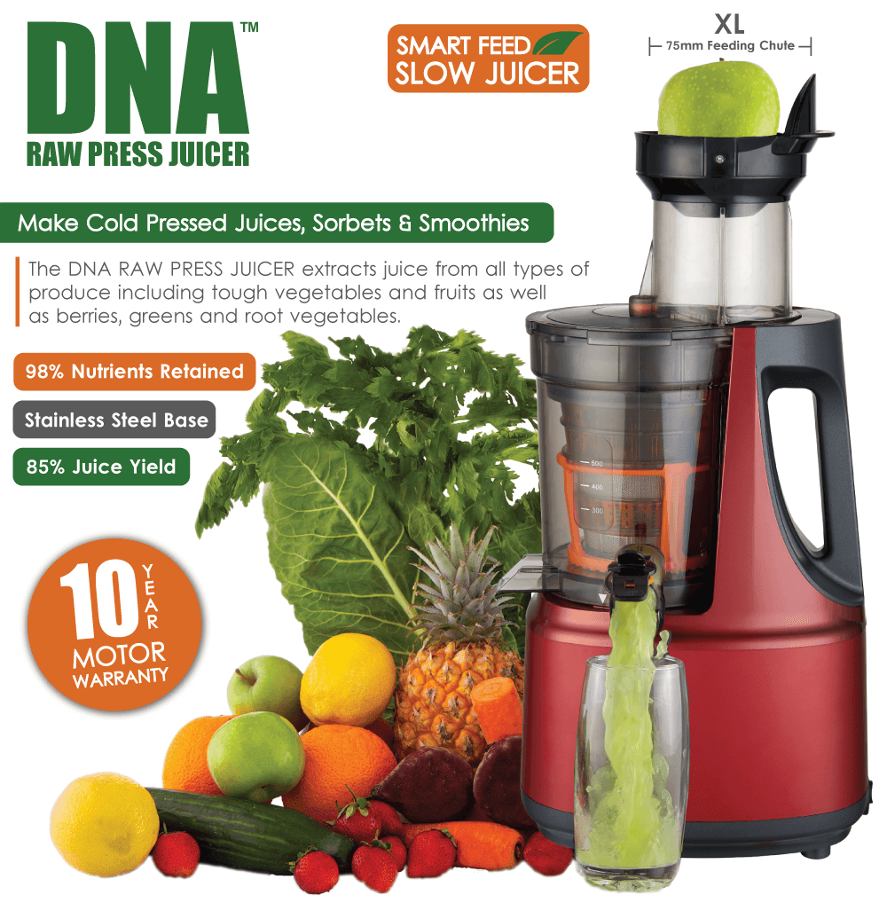DNA Raw Press Juicer Matt Red
